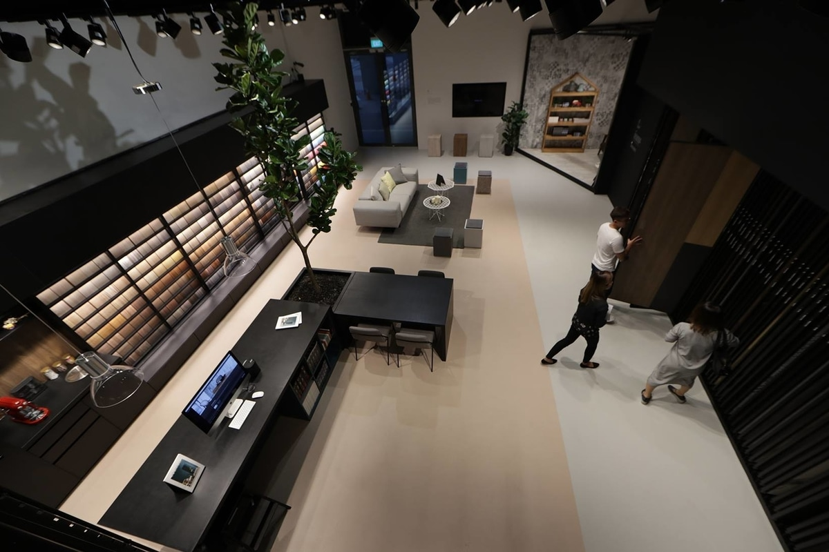 Spacious interior at the Lamitak Studio, perfect for homeowners and interior designers alike to explore