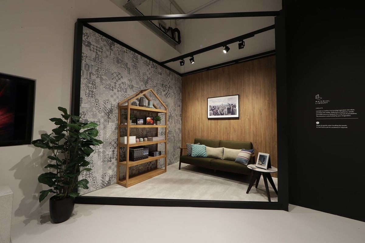 Inspired spaces at the Lamitak Studio Singapore created in collaboration with Commune Home Singapore
