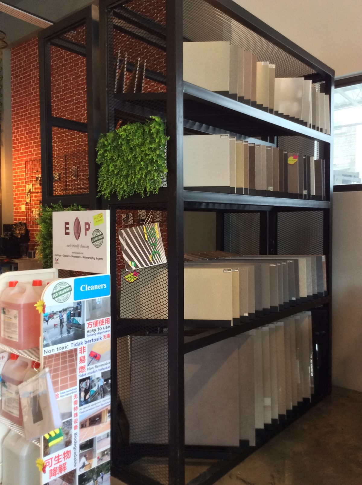 Overstocked tiles on display at HOMA's warehouse in Bandar Bukit Raja, Klang