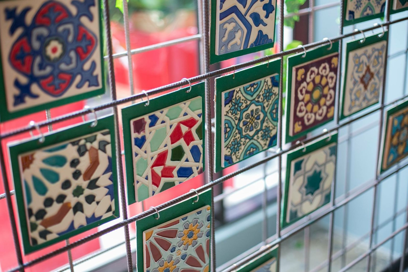 Peranakan styled hand painted tiles available from HOMA