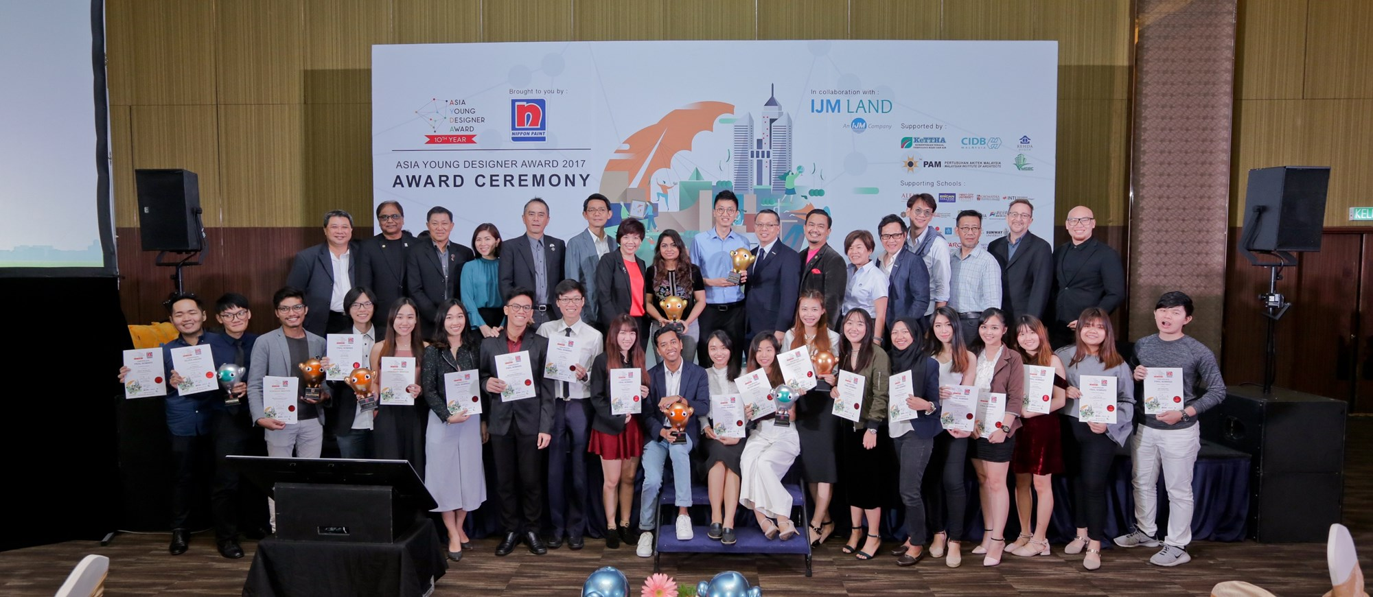 Participants and winners of the Malaysian Asia Young Designer Award 2017