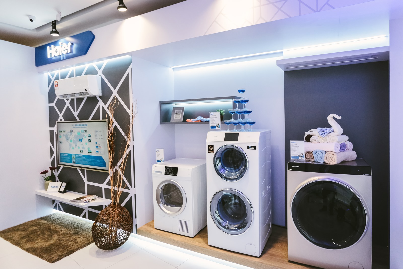 Household appliances on display at the Haier Experience Centre in Setiawalk, Puchong