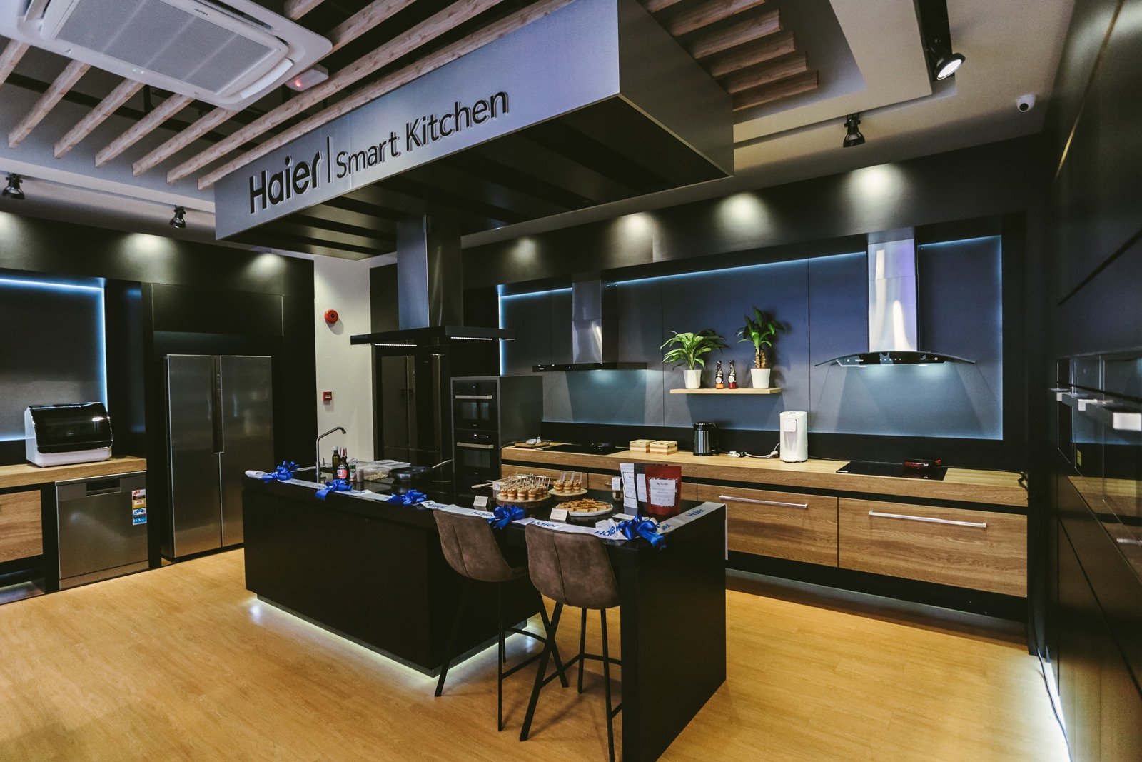 The new Smart Kitchen section at the Haier Experience Centre in Setiawalk, Puchong.